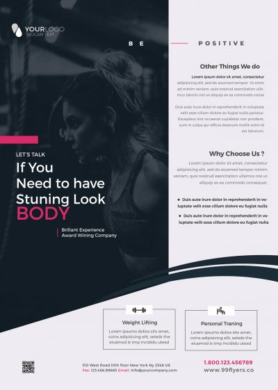 Gym Fit Free PSD Flyer Template