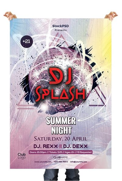 DJ Event Party Free PSD Flyer Template
