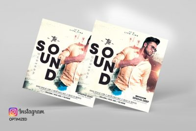 The Sound Weekend Instagram Free PSD Template