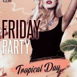 Tropical Friday Party Free PSD Flyer Template