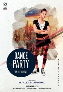 Urban Dance Party Free PSD Flyer Template