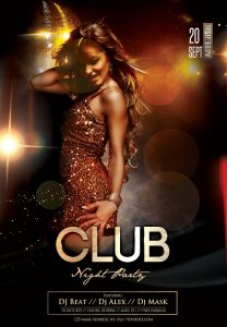Club Night Party Free PSD Flyer Template