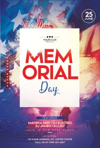 Memorial Day #2 Free PSD Flyer Template