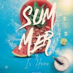 Summer Is Here Free PSD Flyer Template
