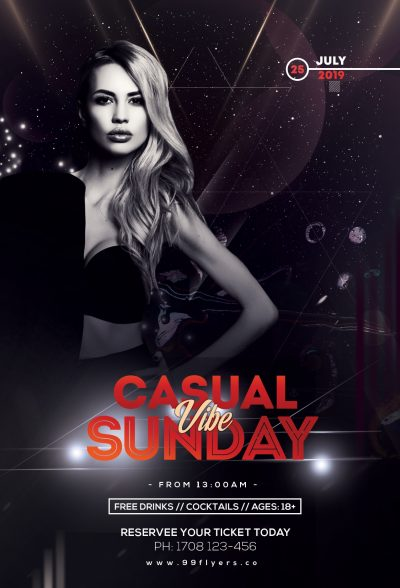 Casual Sunday Vibe Free PSD Flyer Template