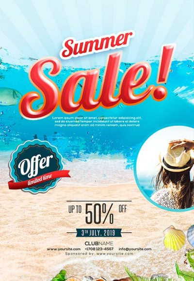 Summer Sale #2 Free PSD Flyer Template