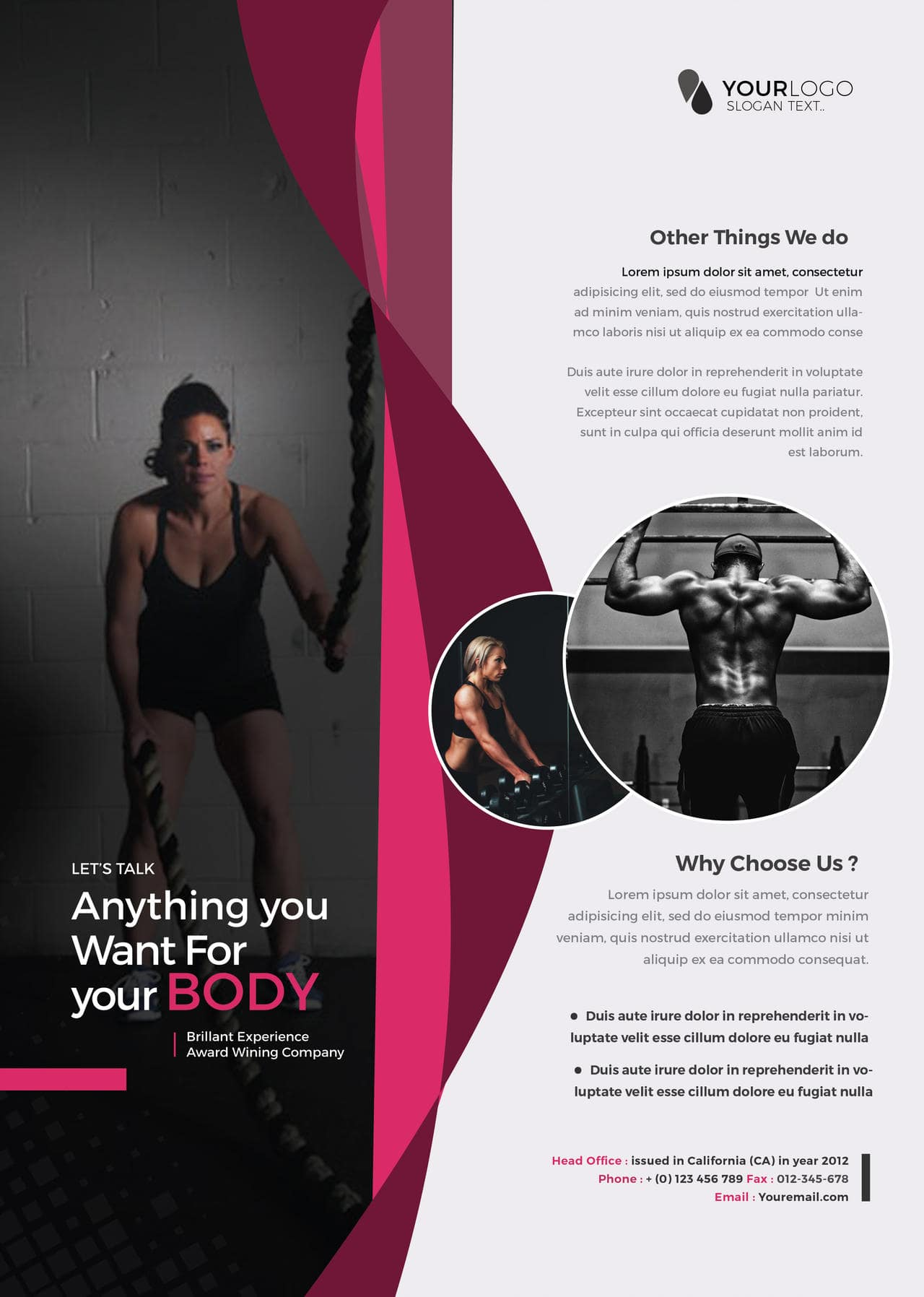 Health & Fitness Free PSD Flyer Template