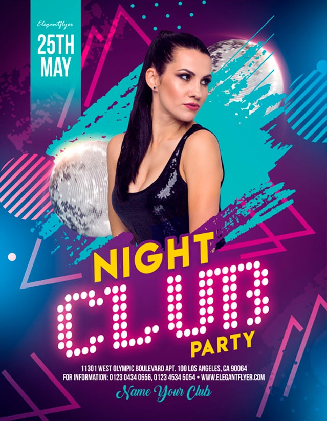 Night Club Party #2 Free PSD Flyer Template