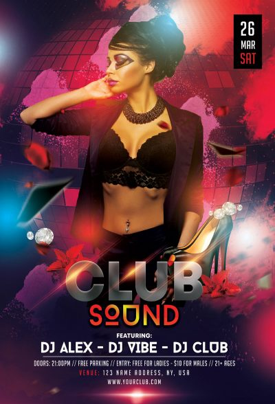 The Club Sound #2 Free PSD Flyer Template