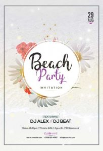 Beach Summer Free PSD Flyer Template