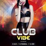 Club Vibes Party Free PSD Flyer Template