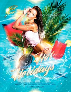 Hot Holidays Free PSD Flyer Template