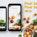 Google Pixel 3a & 3a xl Free PSD Mockups
