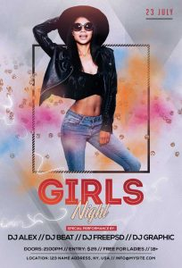 Girls Night #2 Free PSD Flyer Template