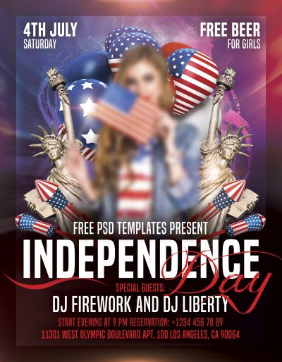 Independence Day Free PSD Flyer Template