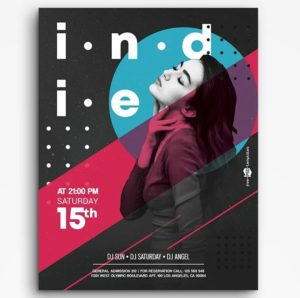 Indie Music Free PSD Flyer Template