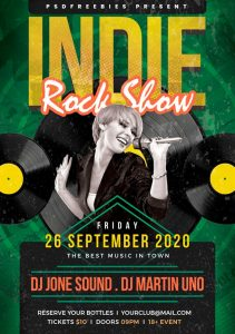 Indie Rock Show Free PSD Flyer Template