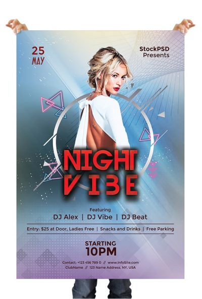 Night Vibe Free PSD Flyer Template