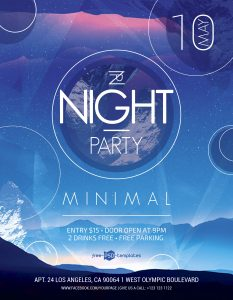 Night Party #2 Free PSD Flyer Template