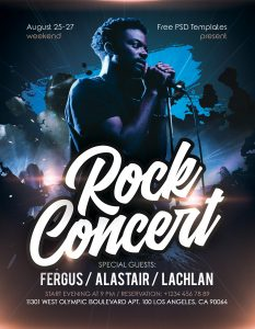 Rock Concert Event Free PSD Flyer Template