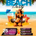Summer Beach #2 Free PSD Flyer Template