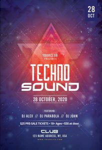 Techno Sound Free PSD Flyer Template