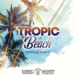 Tropic Beach Party Free PSD Flyer Template