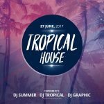 Tropical House Party Free PSD Flyer Template