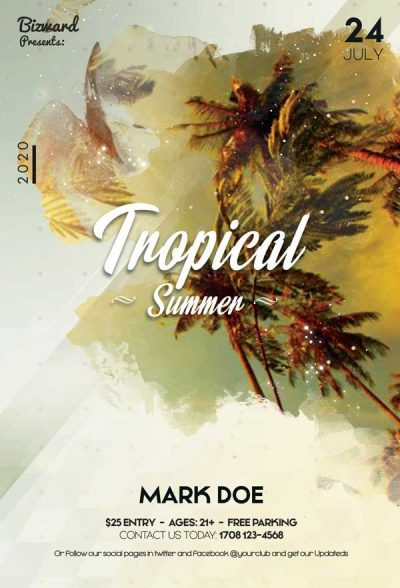 Tropical Summer #2 Free PSD Flyer Template