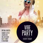 Vibe Party Free PSD Flyer Template