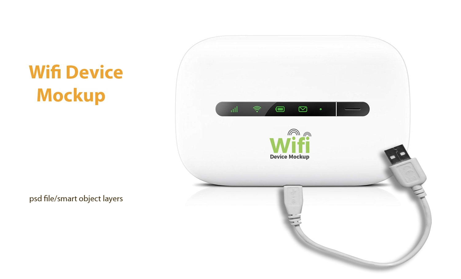 WiFi Router Free PSD Mockup