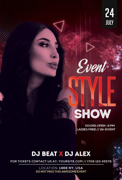 Style Show Free PSD Flyer Template