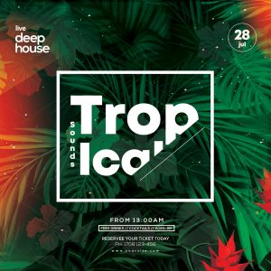 Tropical Summer Instagram Free PSD Template