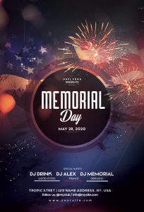 Memorial Day Event Free PSD Flyer Template
