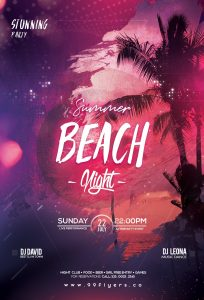 Beach Night Party Free PSD Flyer Template