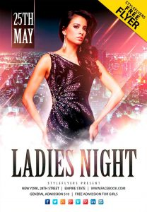 Ladies Night Event Free PSD Flyer Template