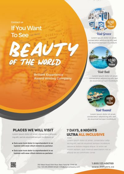 Travel Tour Free PSD Flyer Template
