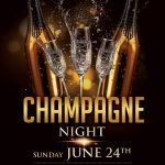 Champagne Night Luxury Free PSD Flyer Template