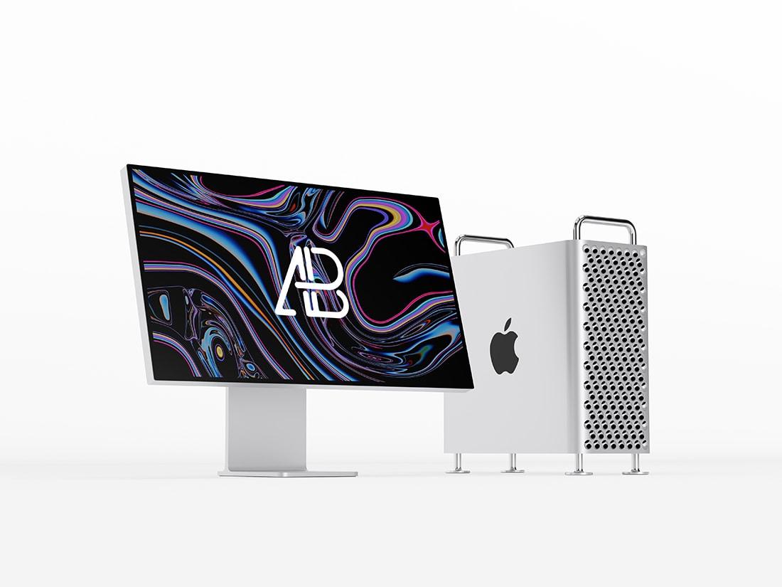 Mac Pro 2019 Free PSD Mockup