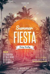 Summer Fiesta Free PSD Flyer Template