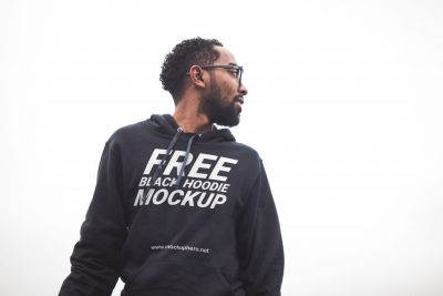 Black Hoodie For Men Free PSD Mockup