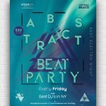 Abstract Beat Free PSD Poster Template