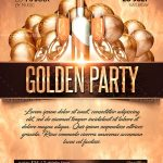 Golden Party Free PSD Flyer Template