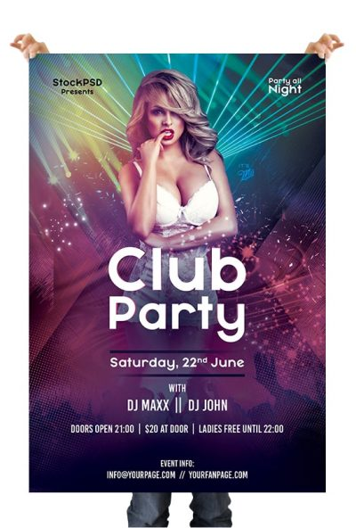Club Party Event Free PSD Flyer Template