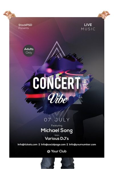Concert Vibe Free PSD Flyer Template