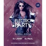Electro Beat Party Free PSD Flyer Template