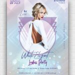 Elegant White Free PSD Poster Template