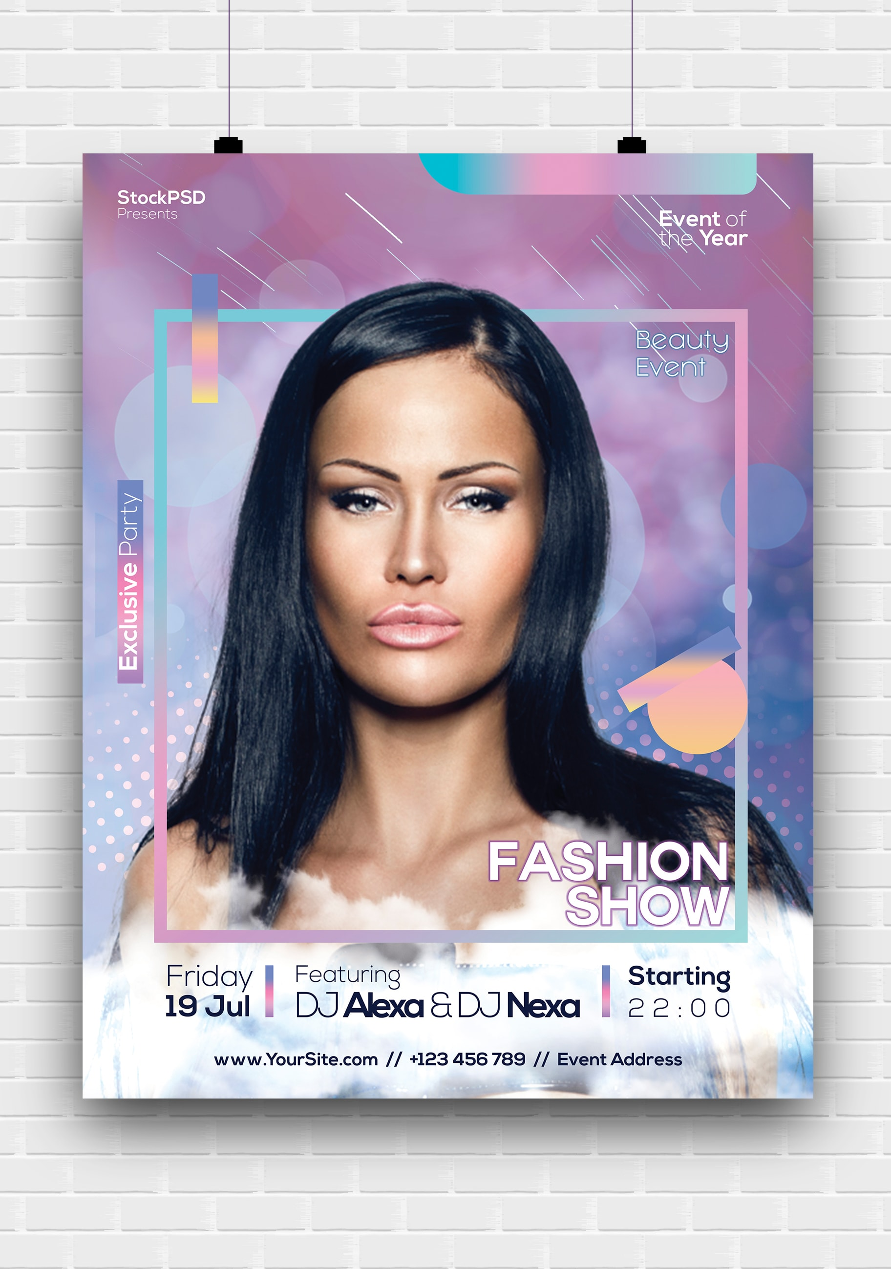 Fashion Show Event Free PSD Poster Template