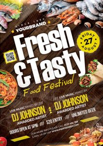 Food Festival Free PSD Flyer Template