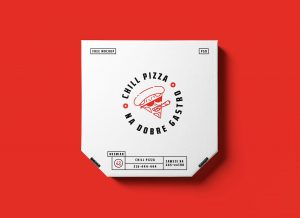 Pizza Box Packaging Free PSD Mockup